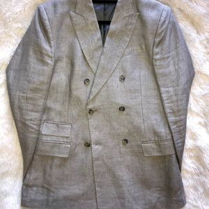 Hopper Soft Basket Linen Blazer // worn once
